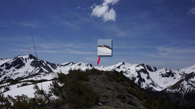 Tent on the distant ridge