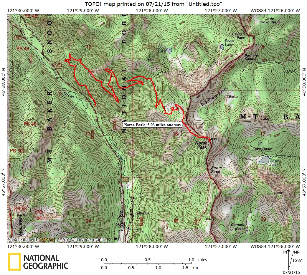Sota Activation Norse Peak Pierce Yakima Conties On Dividing