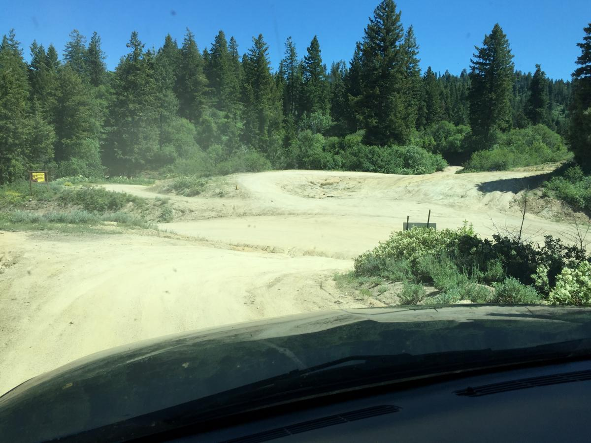 Harris Creek Summit.  Road to Bogus across.