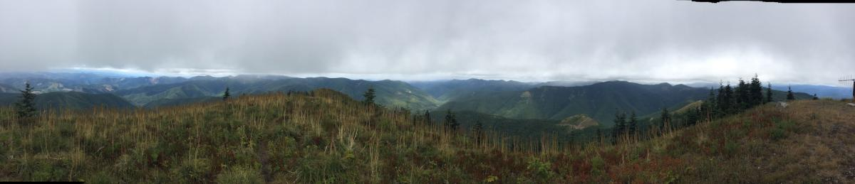 lookout mtn in clouds