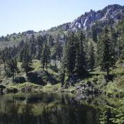 Bald Mtn from Cutthroat Lakes