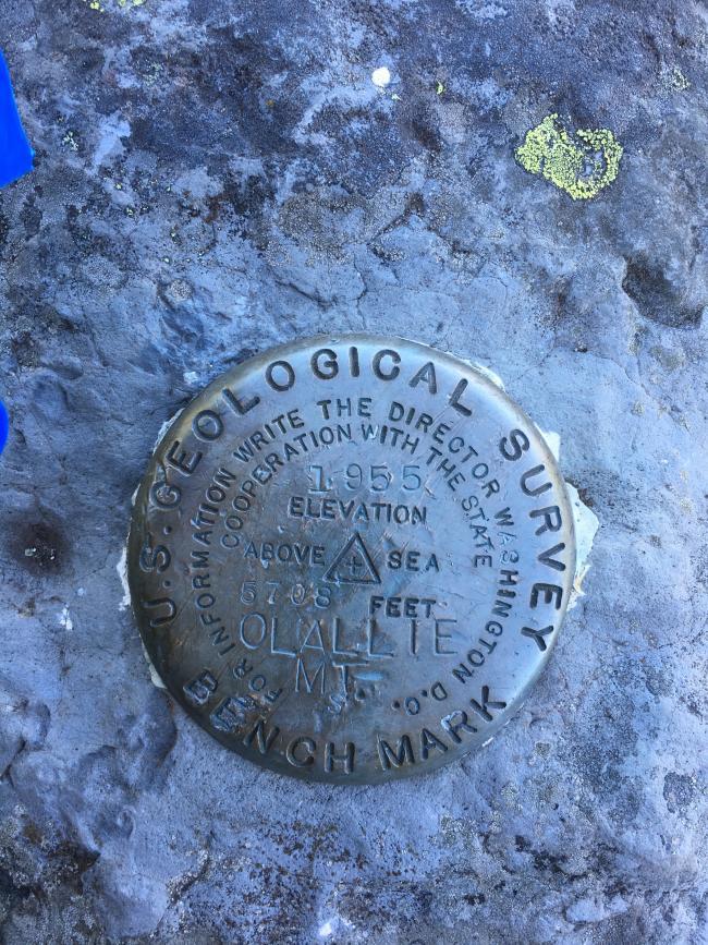 Olallie Mtn USGS Benchmark