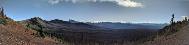 Panorama of the view