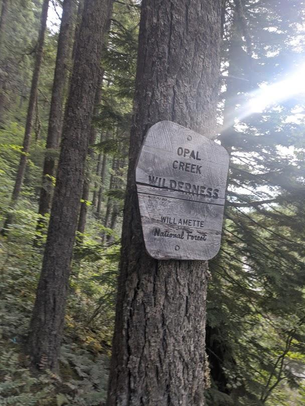 Picture of the Opal Creek Wilderness sign