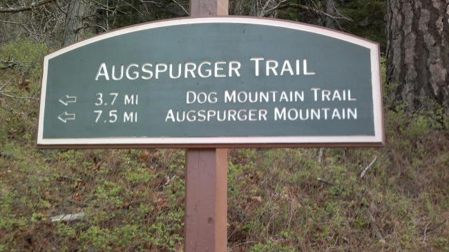Augspurger Trail Sign