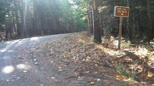 Monte Cristo Trail sign