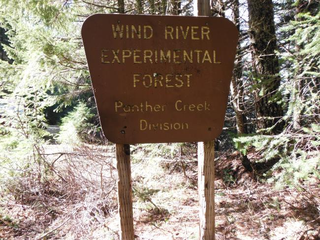 Sign next to trailhead