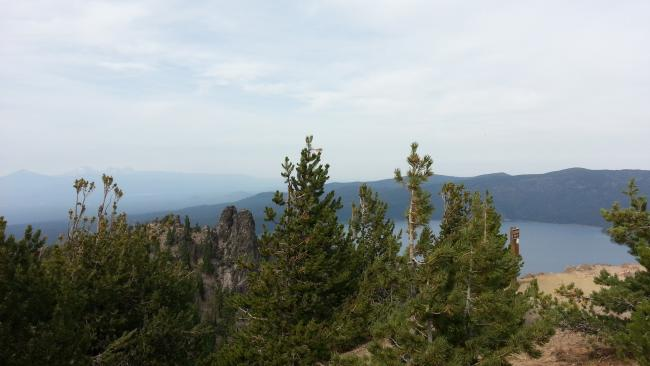 Paulina Lake from the Summit of Paulina Peak
