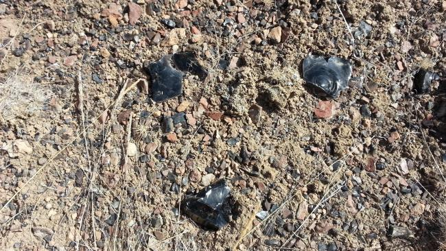 Obsidian on the hike to Little Glass Butte