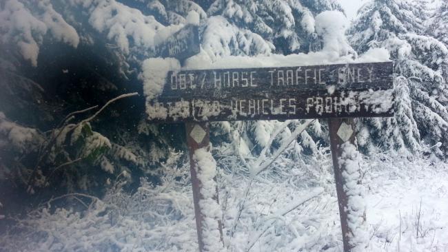 Sign at summit