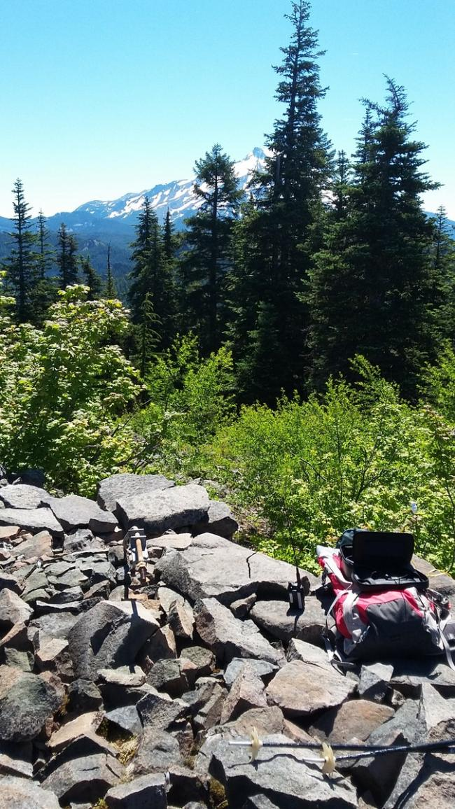 Outerson Mountain summit and Mount Jefferson