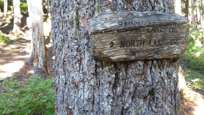 "Rainy Lake Trail Sign at ""Trailhead"""