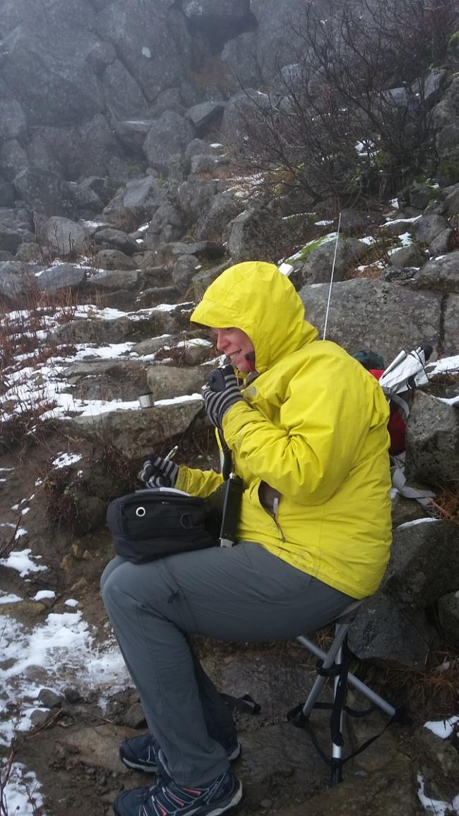 Operating from the base of the summit pinnacle