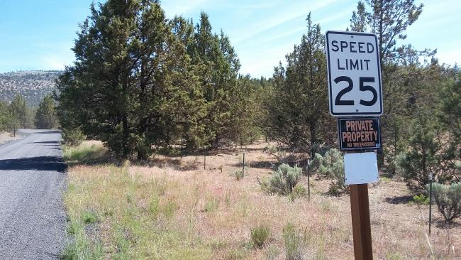 County Speed Limit + Private Property??