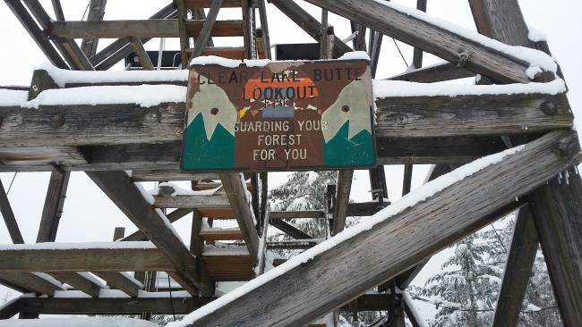 Sign on Clear Lake Lookout