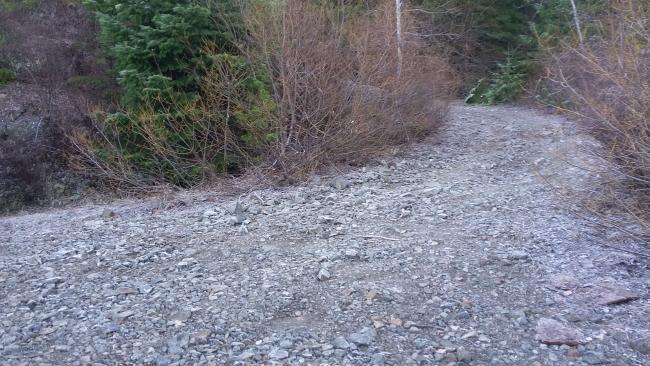 Where the road roughens - start hiking here