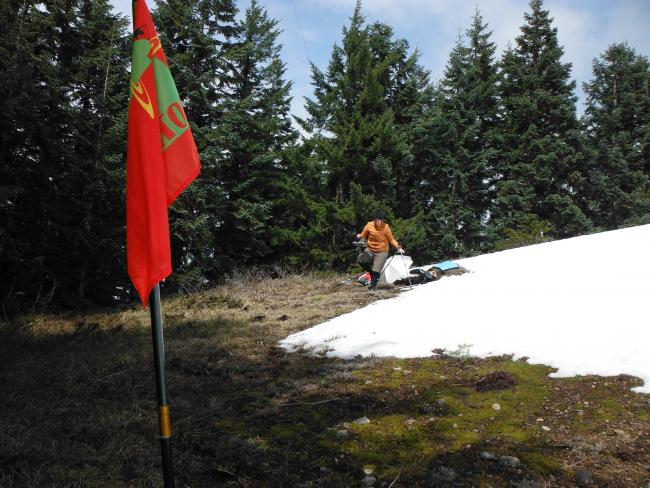 SOTA Flag on the summit