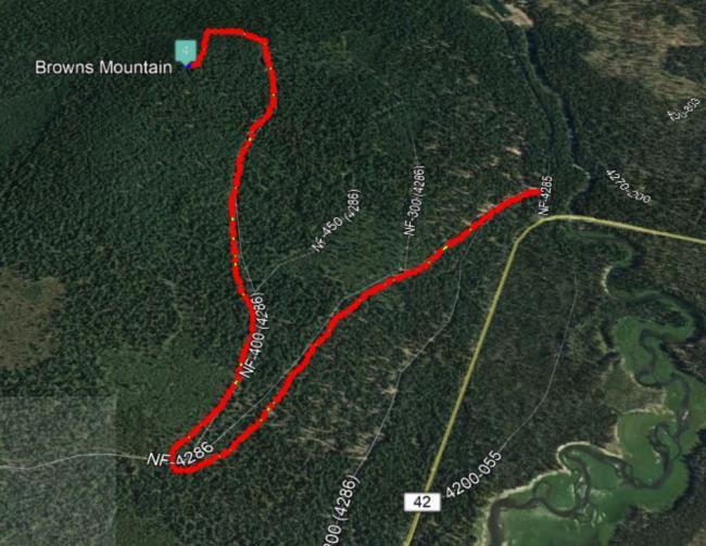 Browns Mountain Path
