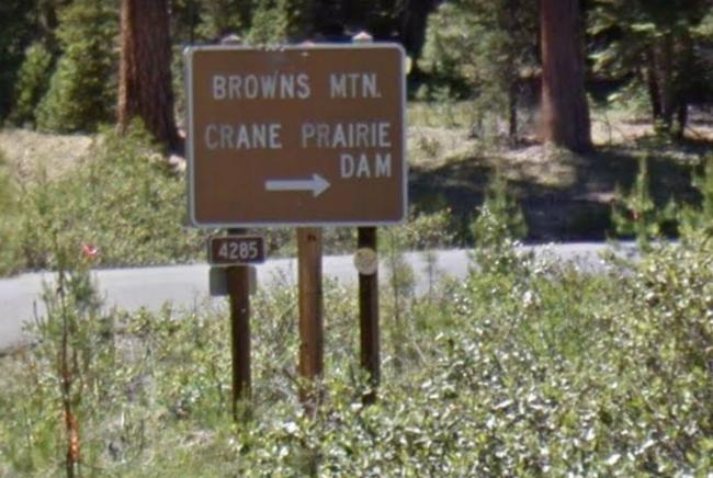 Browns Mountain Sign