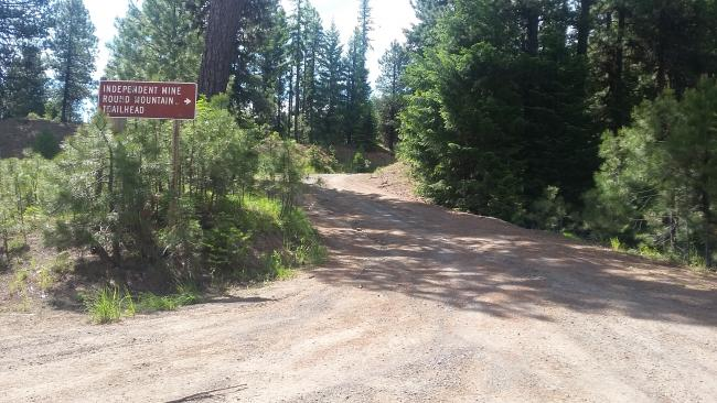 Lookout Mountain Trailhead - says Independent Mine