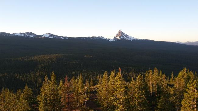 Mount Thielsen from the catwalk