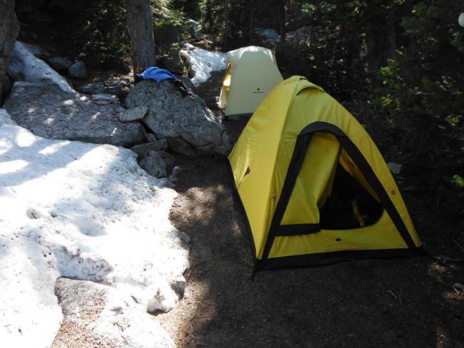 Campsite at Colchuck Lake
