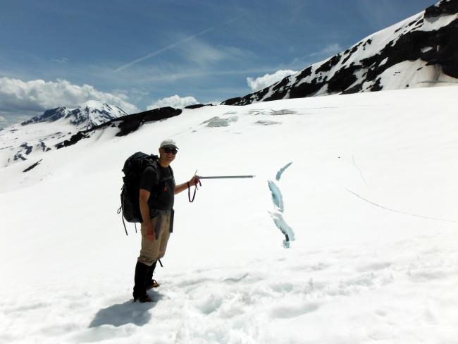 Hayden Glacier crevasse