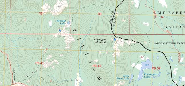 Carlton Ridge and Fryingpan Mtn