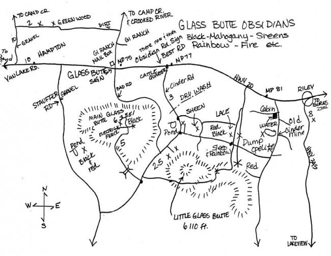 Glass Buttes Map