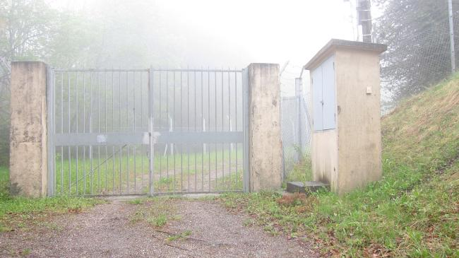 Gate at Summit for TV Transmitter