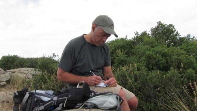 Working 20m CW from the summit
