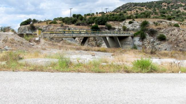 Overpass to summit access road