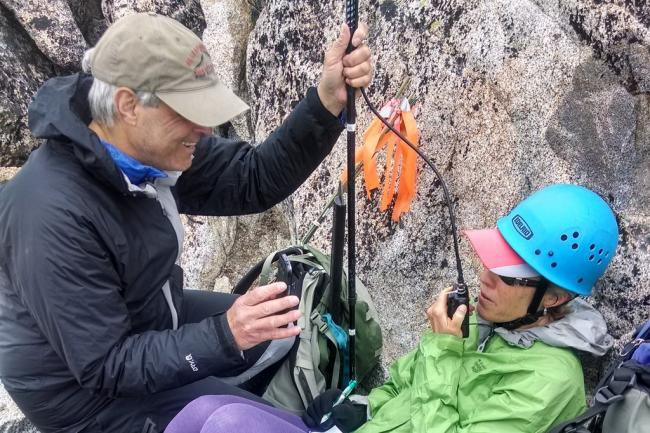 Making contacts on the summit