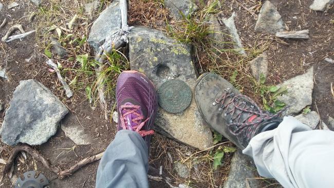 USGS Marker for Little Huckleberry