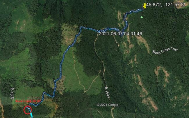Buck Creek Trailhead #2 Route
