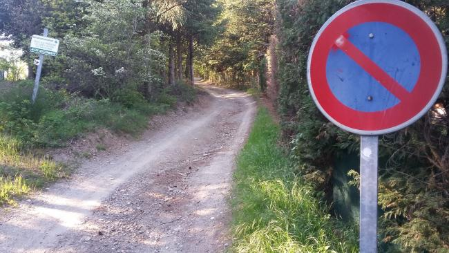 Road turns to gravel