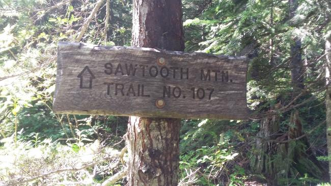 Sawtooth Mountain Trail Sign
