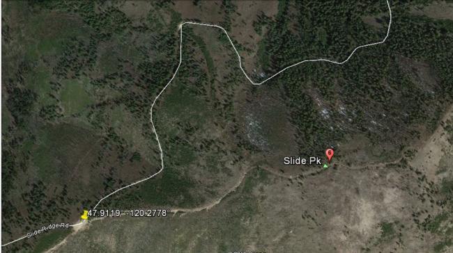 Slide Peak map