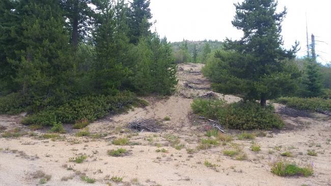 Slide Peak route