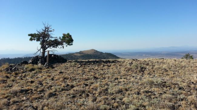 Summit of Pine Mountain with Pine Benchmark in the background