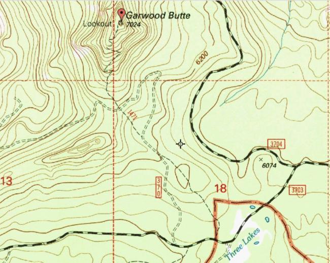 Garwood Butte Map