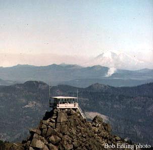 Three Corner Rock Fire Lookout in 1964