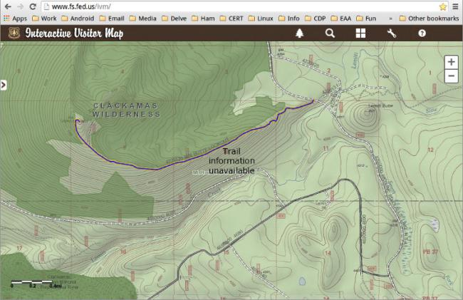 Topo map detail - Sisi Butte