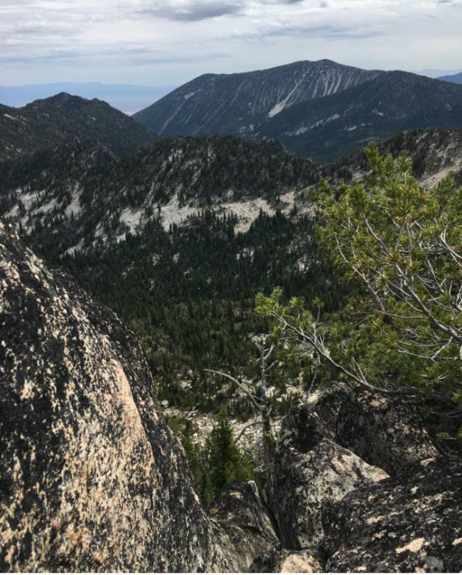 view of drop off and Van Patten Butte