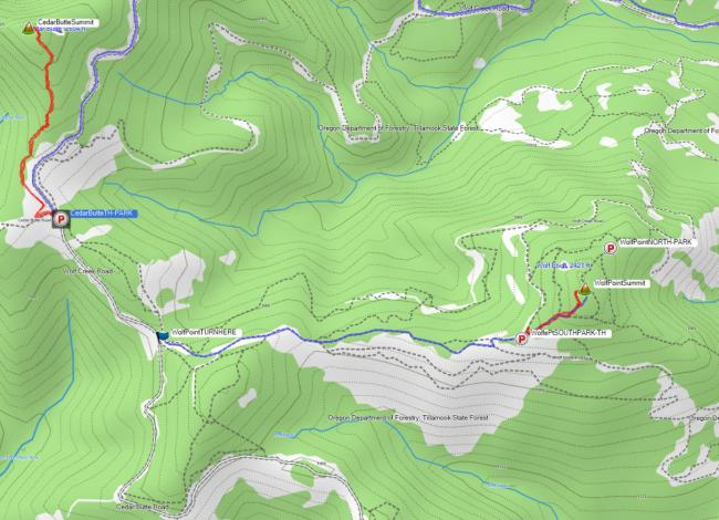 GPS tracks and waypoints