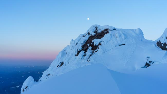 Crater Rock and Moon at Dawn