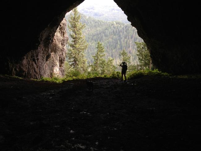 Emily in Boca Cave, Its really big with 60ft ceiling