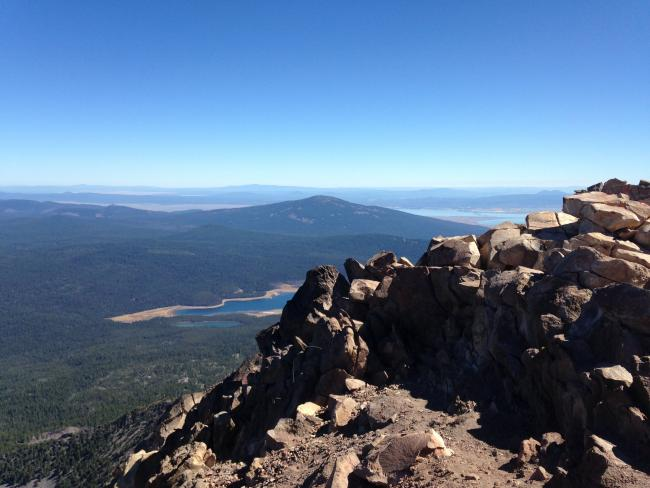 Fourmile lake and Lower Klamath Lake from summit