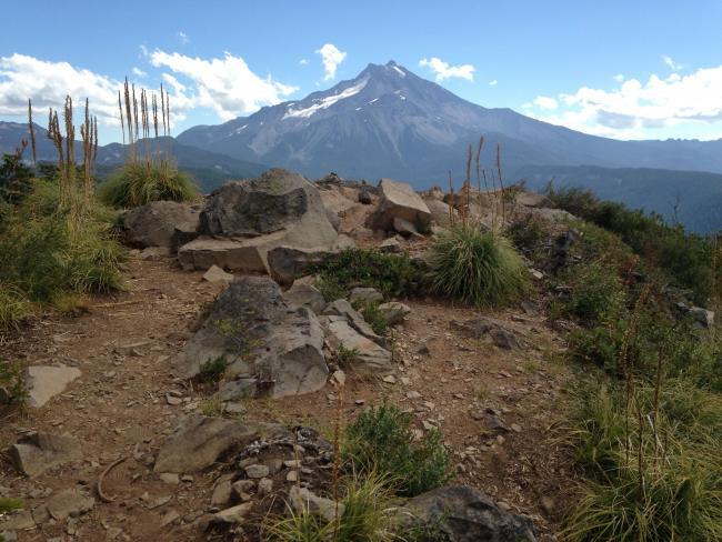 Mt Jefferson from summit of Triangulation Peak