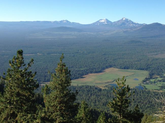 Meadows at Black Butte Ranch with the Sisters beyond